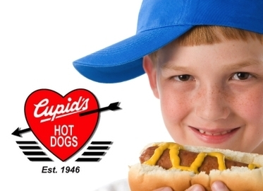 Cupid's Hot Dogs! Just $11 for a 2 Person Meal Deal including 4 Chili Dogs, 2 Bags of Chips and 2 Medium Drinks.