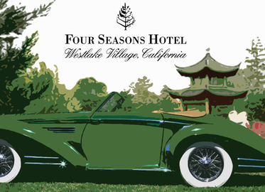 Concours D'Elegance Car Show at Four Seasons Westlake Village.  Admission for One for $60 and Admission for Two for $100. March 22nd From 1-5.