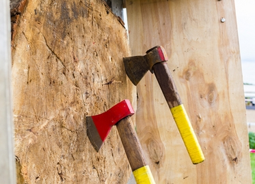 Axe Throwing at Your Local Home! Get 2 Hours of Unlimited Axe Throwing With Instruction by Axecursion For Just $99! (Value $200).