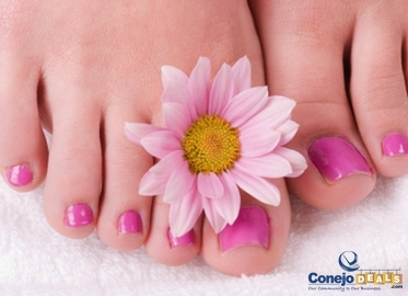 Mani & Deluxe Pedi With Callus Removal, Pineapple Scrub, and Massage With Nails by Gina for $27! Or Deluxe Pedicure, Manicure, and Custom Spray Tan for $44!